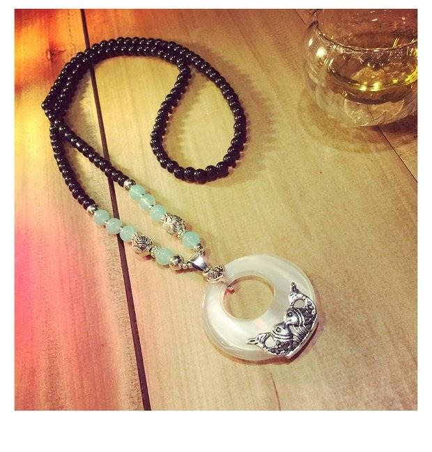 Necklace Qipao storage box chain beaded dress womens accessories Tianzhu beautiful chest chain long clothing sweater