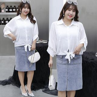 [轩辰]胖妹妹大码女装2020秋季新品短款蝙蝠衫轻薄薄外套1812-BFD