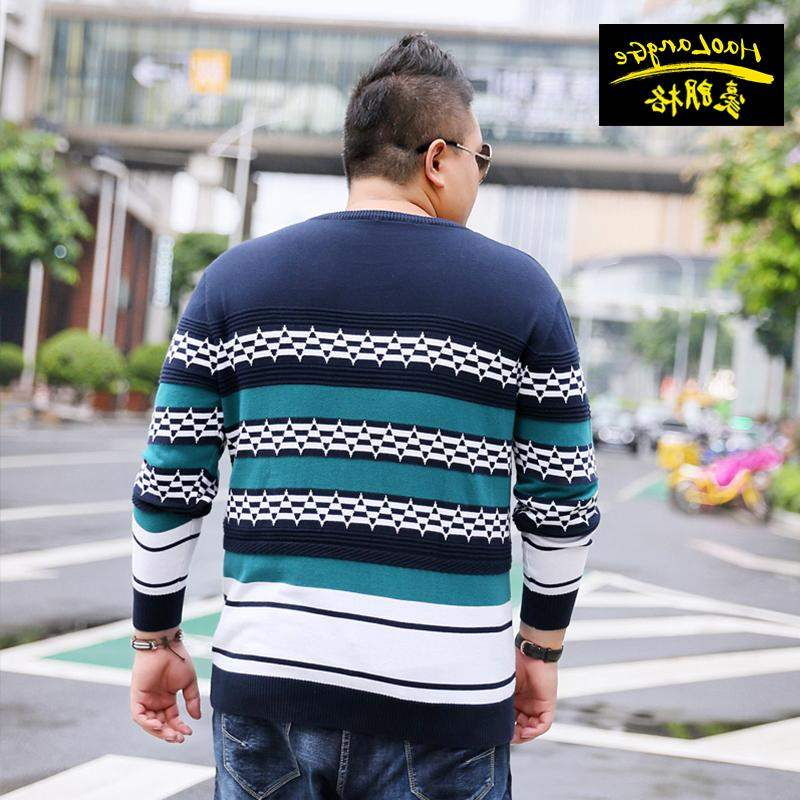 Top grade brand fat mens wear Plus Plus Plus Size Youth thick sweater fat super large popular knitwear