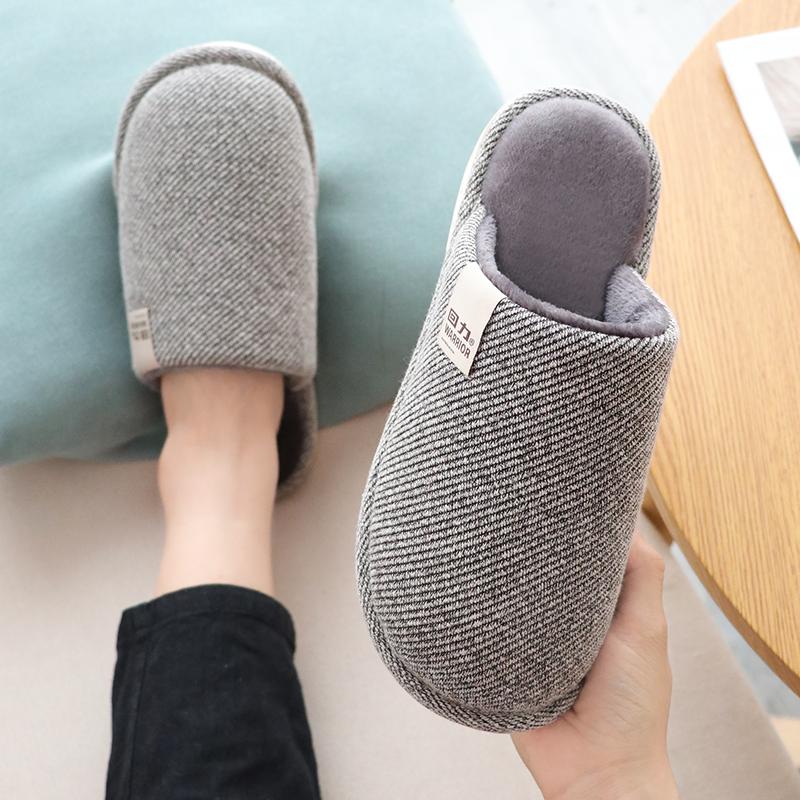 回力棉拖鞋男家用秋冬居家室内可爱毛毛鞋保暖防滑情侣毛拖鞋女冬