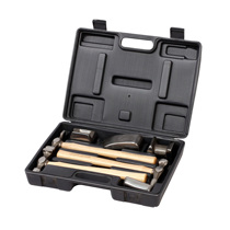 Kraft 7-piece set of auto repair sheet Metal Hammer set walnut handle Repair Tool Set HA5004B