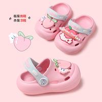 查看儿童拖鞋女夏可爱外穿宝宝洞洞鞋居家婴幼儿1-2岁3小童防撞凉拖鞋价格