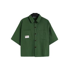 复古港味短袖设计感外穿夏季衬衫