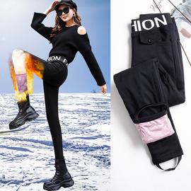 羽绒裤女外穿时尚高腰加厚冬季修身显瘦保暖棉裤打底魔术小脚裤子图片