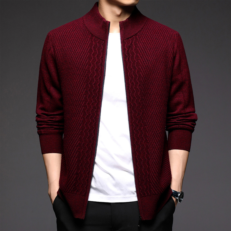 Foreign trade original single winter new mens sweater cardigan brand counter authentic 30-40-50 years old 60nanz