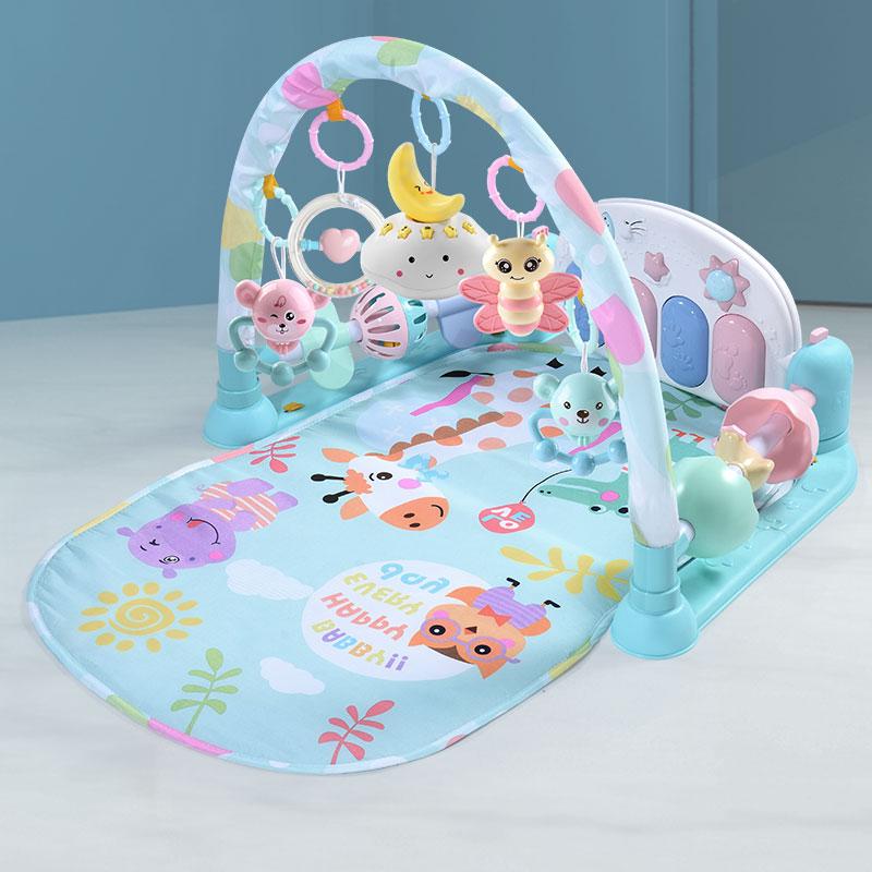 哄娃神器宝宝婴儿玩具脚踏琴健身架