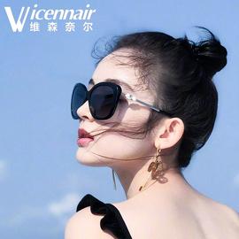 2020新款偏光太阳镜古力娜扎同款珍珠墨镜女韩版潮网红圆脸眼镜图片