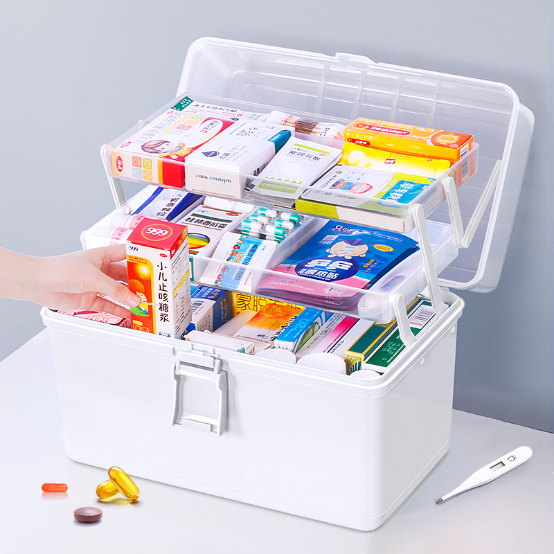 Small and large health care box home emergency large capacity bedroom rescue medical family packed baby baby travel