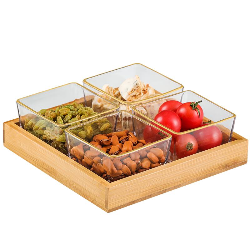 轻奢玻璃分格零食碟干果坚果水果盘评价如何