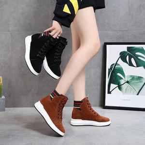 2021年新款内增高休闲高帮鞋马丁靴