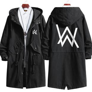 艾伦沃克风衣连帽外套Alan Walker电音DJ男女春秋冬大衣中长款棉