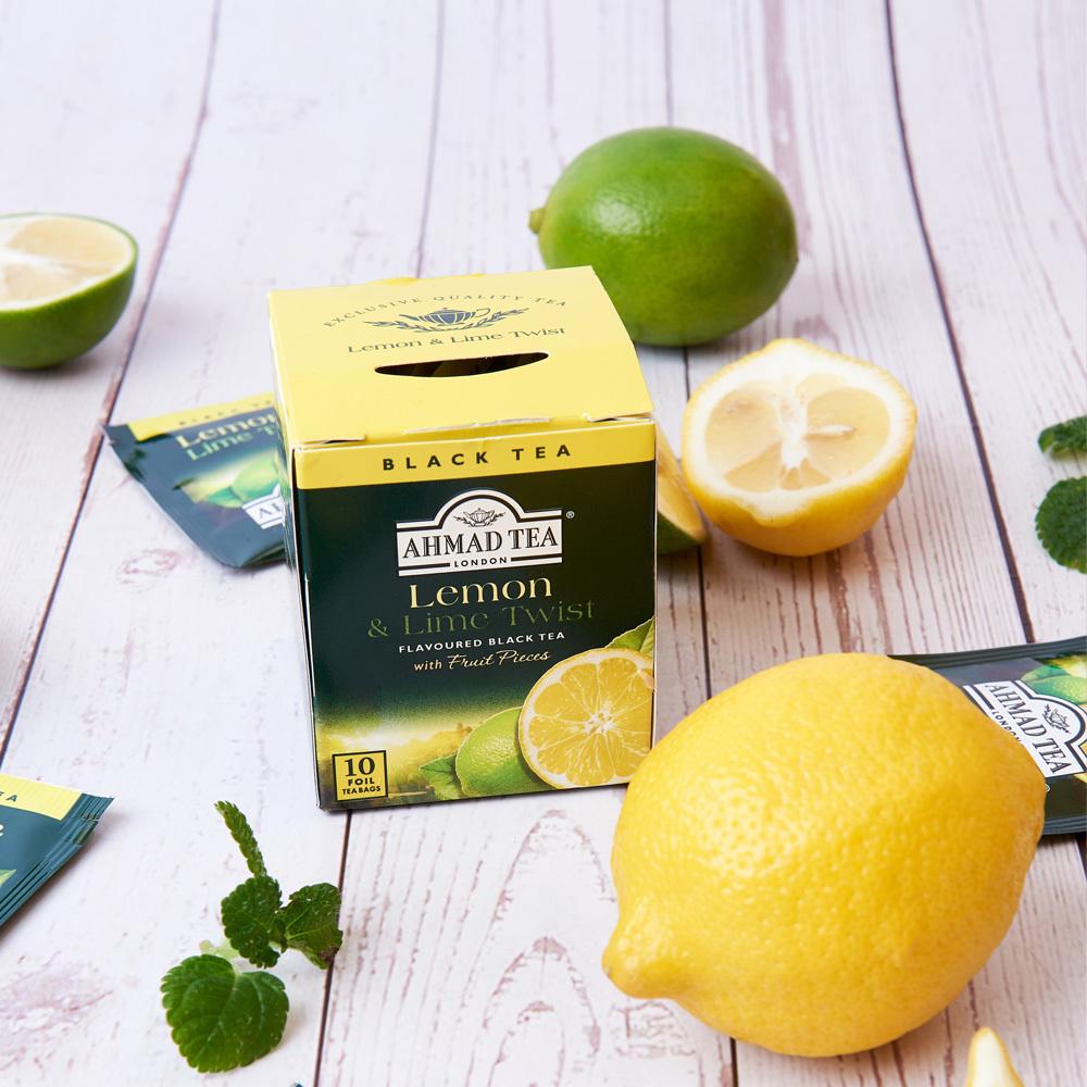 AHMAD TEA/亚曼英国进口柠檬香柠味红茶水果味茶包袋泡茶20g/10袋