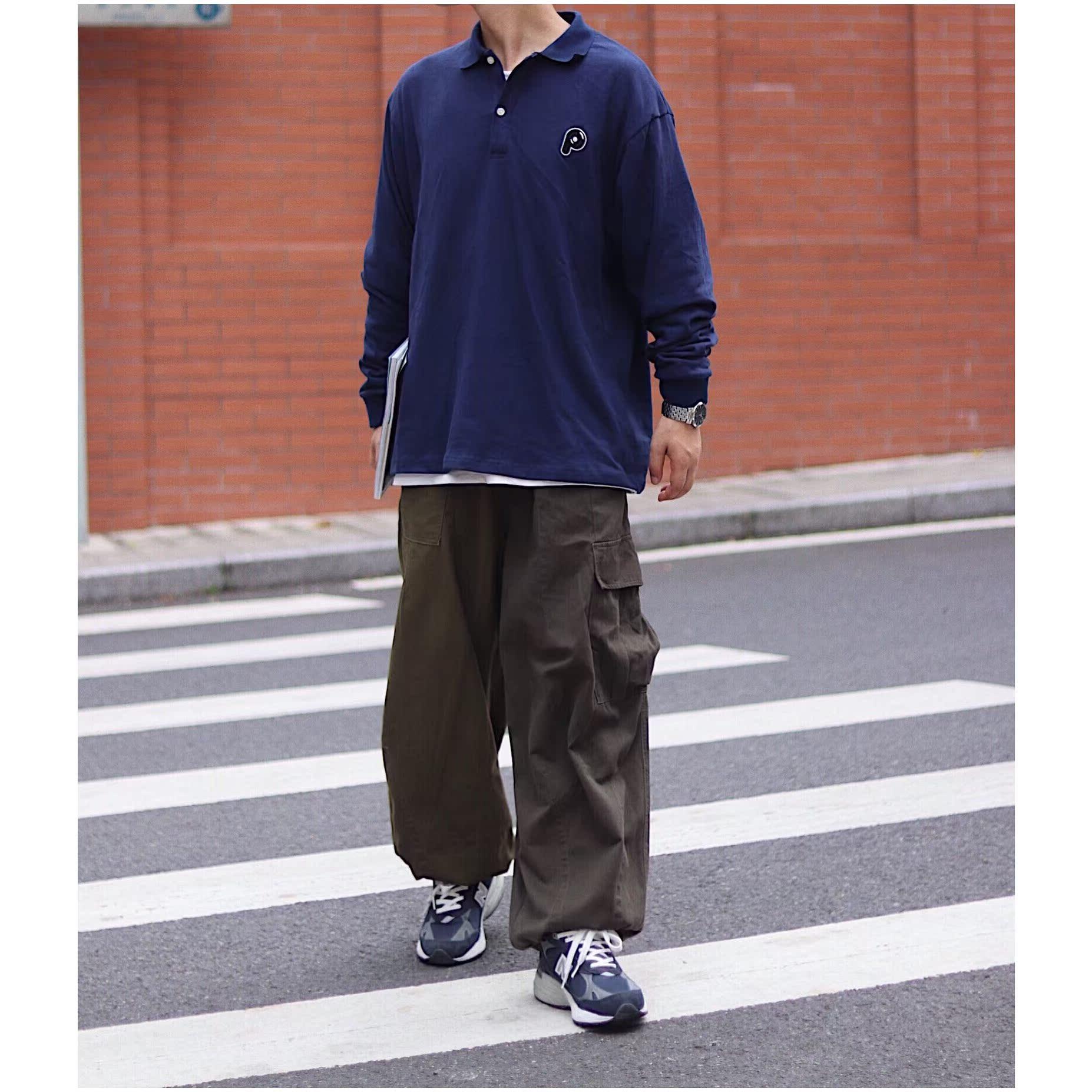 日系复古多口袋阔腿可束脚灯笼裤满75元可用3元优惠券