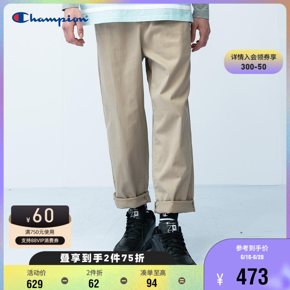 Champion冠军裤子男士宽松春夏休闲长裤松紧腰潮牌日系直筒工装裤
