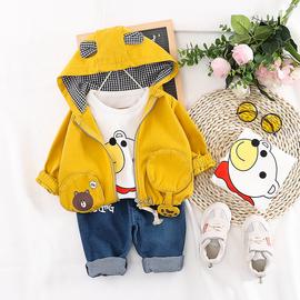 男宝宝春装套装0一1-2-3岁男童洋气三件套2020新款春秋婴幼儿童装图片