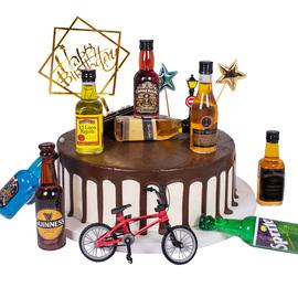 父亲节生日蛋糕烘焙装饰 威士忌洋酒摆件迷你小酒瓶网红插件啤酒
