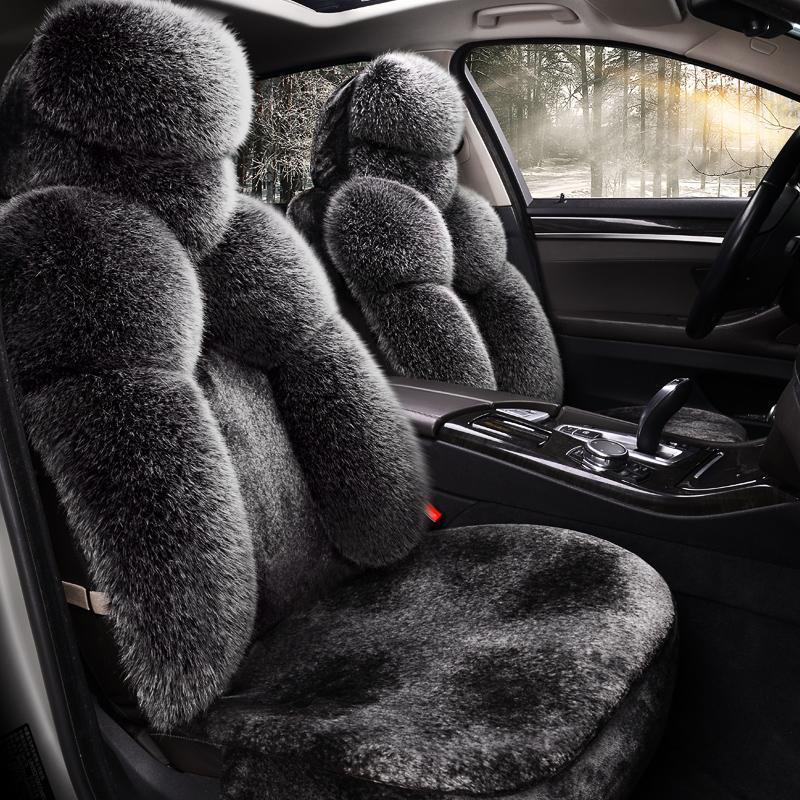 汽车坐垫冬季短毛绒全包围高尔夫飞度宝来polo骐达卡通女保暖座套