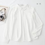 高阶软糯雪纺长袖白色正装衬衫女时尚洋气设计感小众轻熟职业衬衣