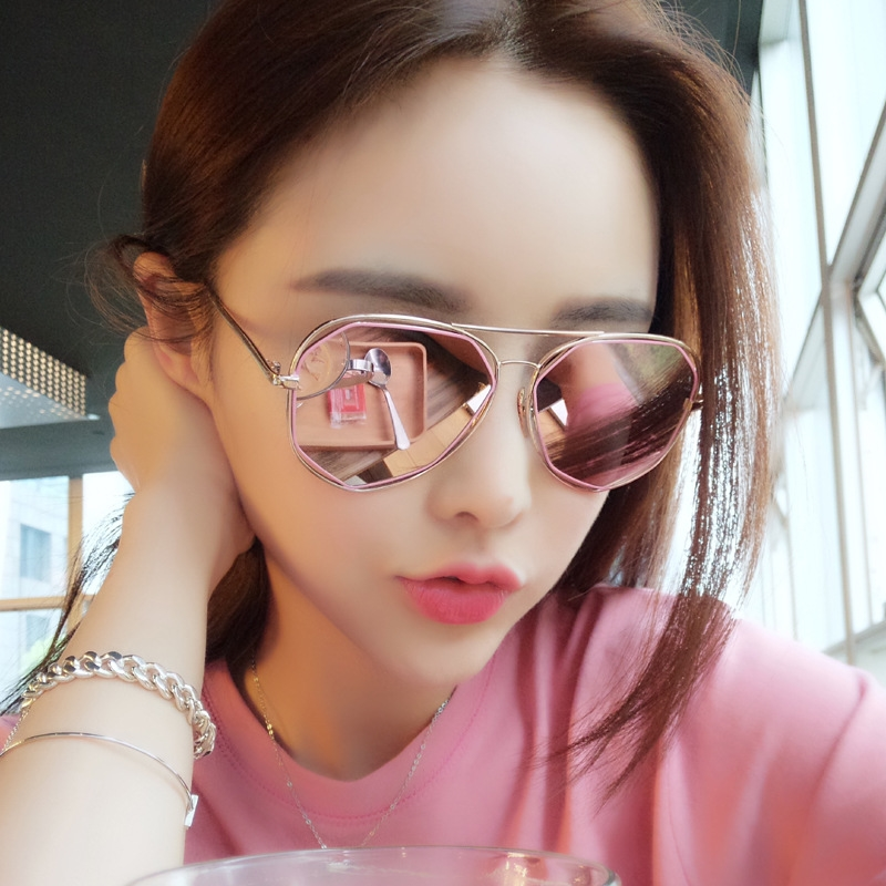 Lin xiaojue is the same kind of sunglasses for fashion girl