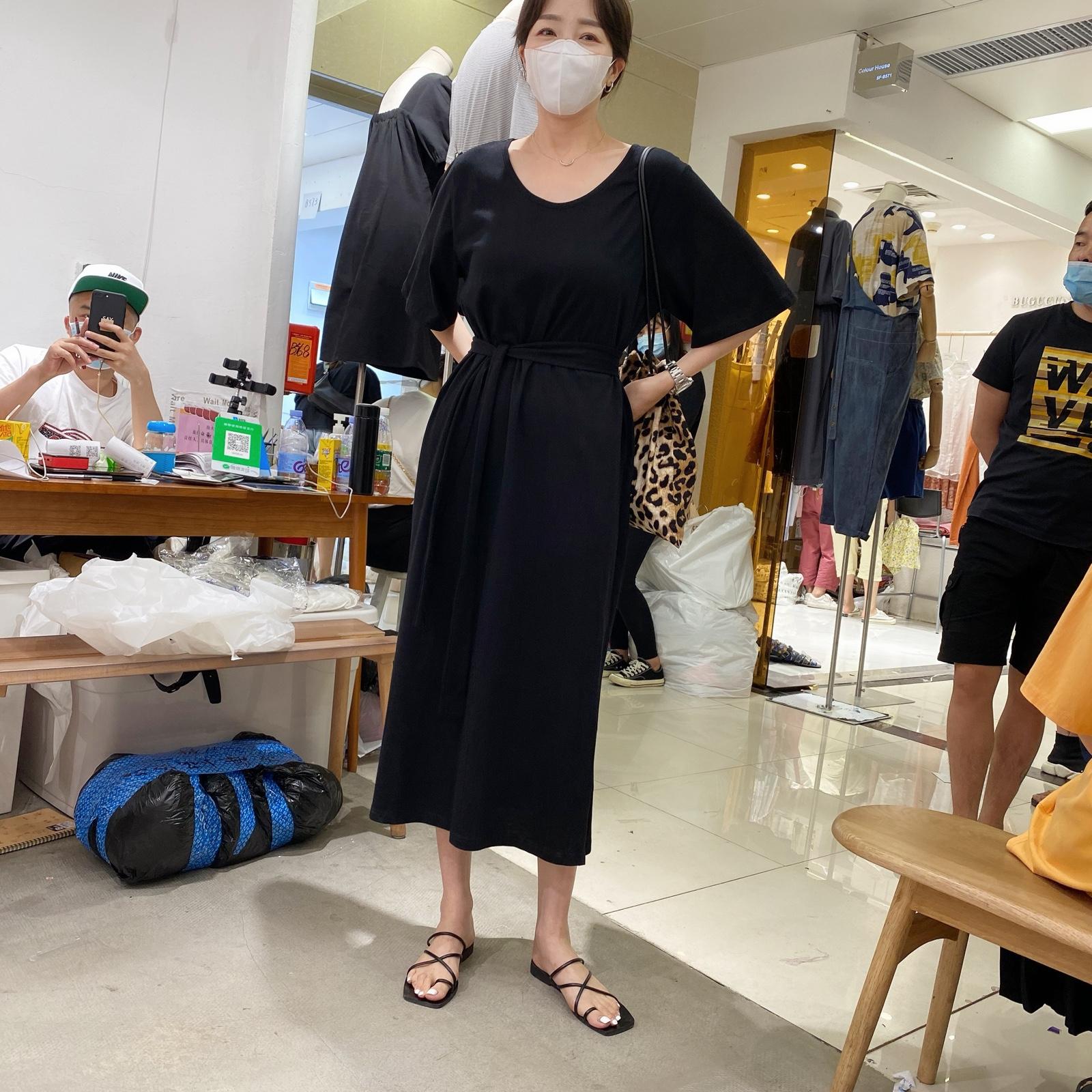 widelia陈姬儿2020夏季新款韩版气质连衣裙网红长裙子885220