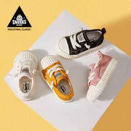 儿童饼干鞋宝宝鞋子女童帆布鞋1-2-3岁小童幼儿园男童透气小白鞋图片