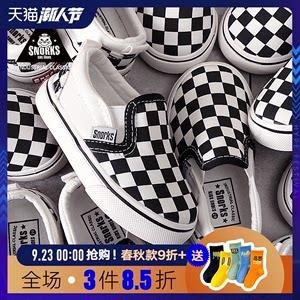 宝宝帆布鞋1-2-3岁男童鞋格子女童鞋子小童软底板鞋儿童休闲布鞋