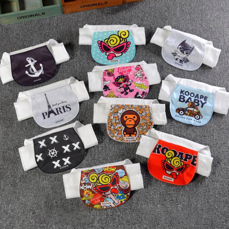 潮牌婴儿童纯棉吸汗巾 宝宝卡通纱布垫背巾 4层6层2-3-4-7岁