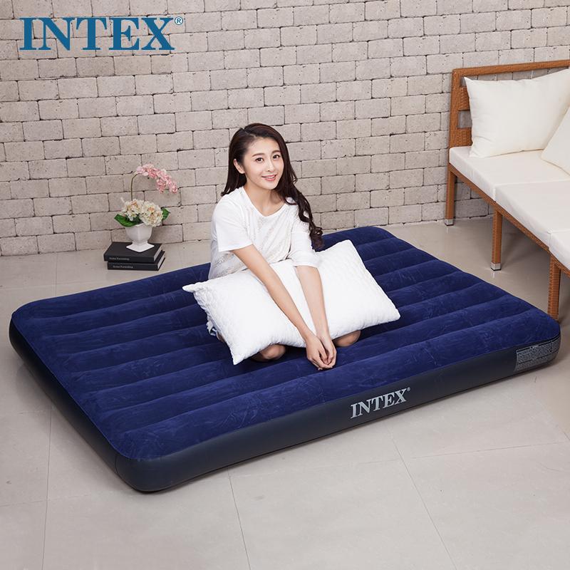 Intex надувной один портативный легко противо матрас воспаленный медицинская воздушная подушка кровать двойной домой машина нагрузка матрас