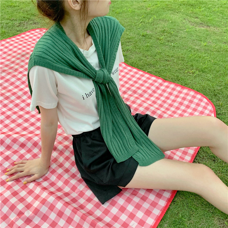 Net red INS with shoulder shawl South Korea with all kinds of solid color knot air conditioning room scarf womens neck protection bib in spring and summer