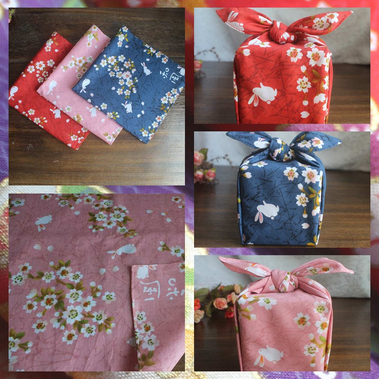 3 pieces of package mail Japanese style and wind handkerchief, square towel, wind, Lu Fu, Bento, cloth, flower room, table cloth, table cloth, table mat, bag skin