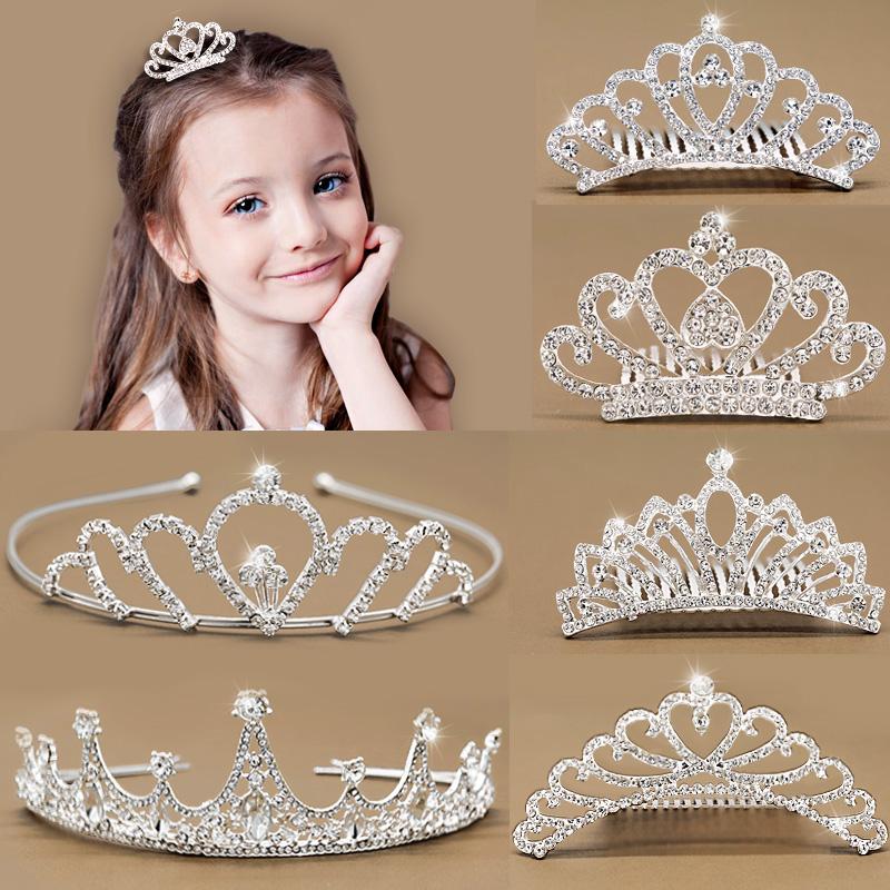 假一赔三皇冠儿童发饰公主女孩发梳演出发箍