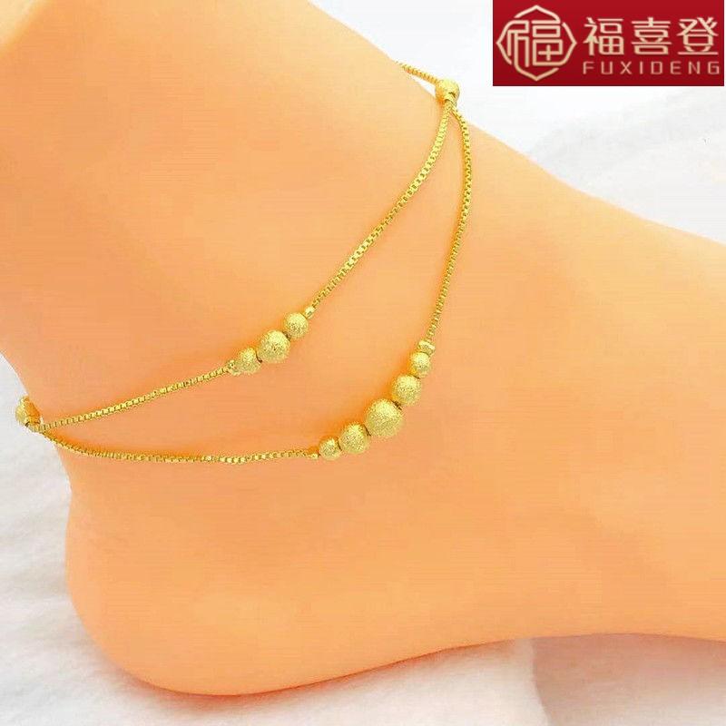 Việt Nam cát vàng vòng chân nữ gợi cảm chuông nữ vòng chân vàng giả 24 trang sức mạ vàng lâu dài - Vòng chân