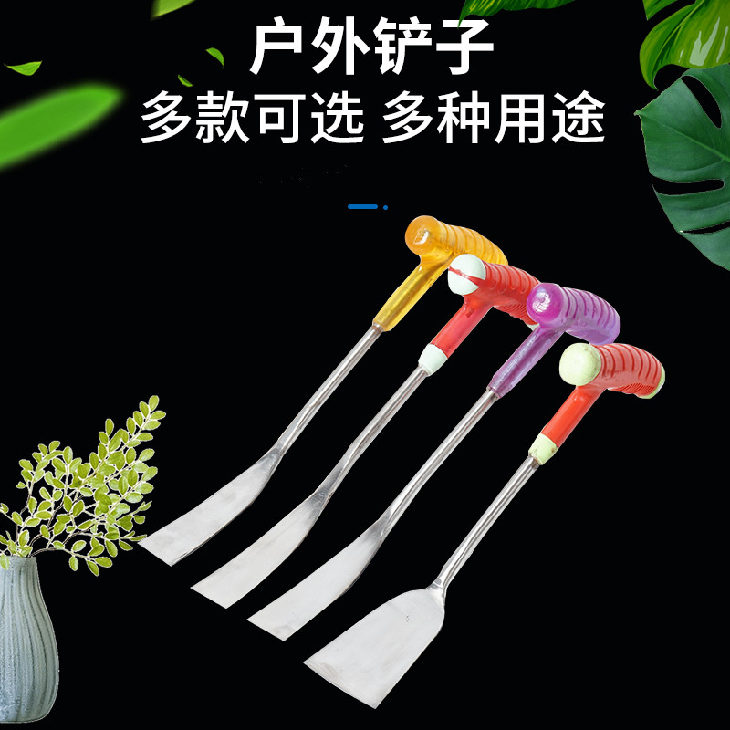 ステンレスの小さいシャベルの全鋼は厚い家庭用の花を植えて花を作ってシャベルをかきます。