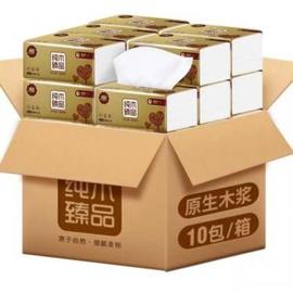 漫花抽纸原木纸巾家用整箱实惠装餐巾纸卫生纸面巾纸抽婴儿擦手图片