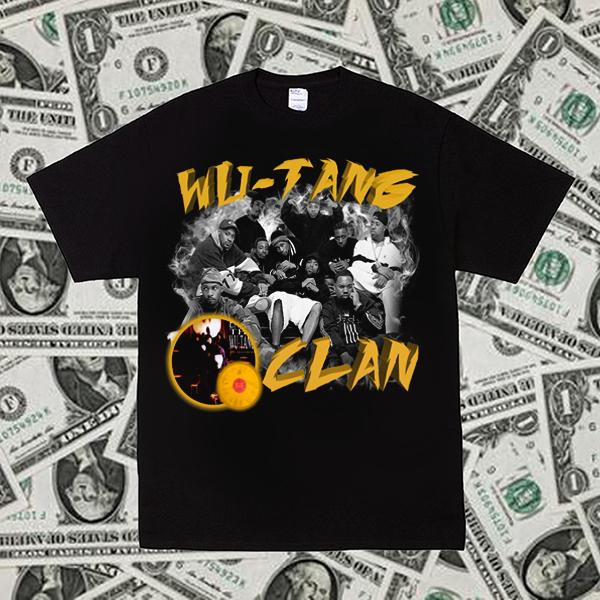 Wu-Tang Clan武当派Rap说唱HIP-HOP饶舌短袖硬核Vintage嘻哈T恤