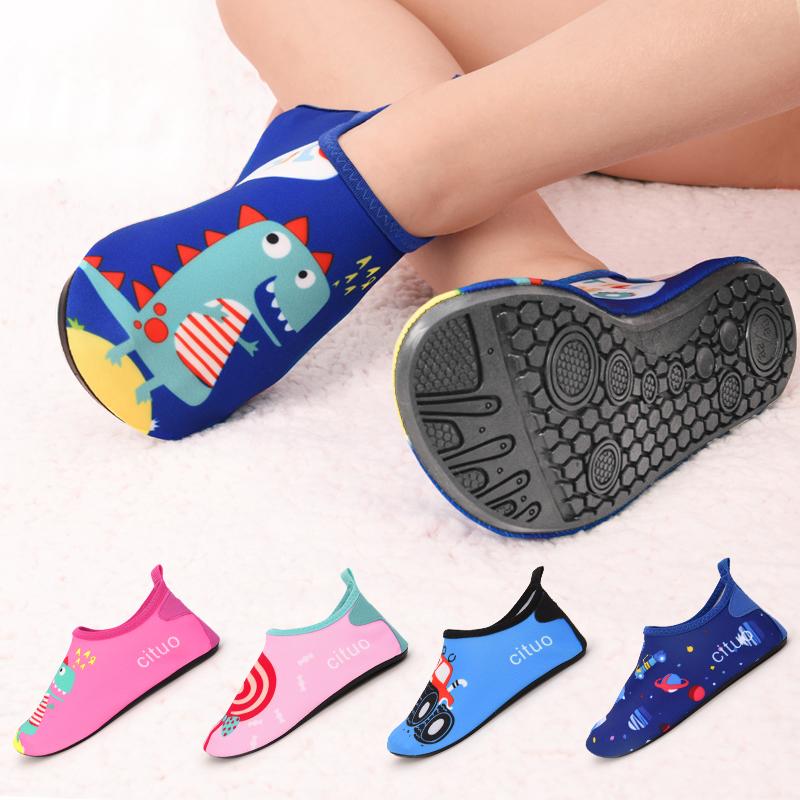 地板襪寶寶防滑軟底鞋秋冬款嬰兒襪套男女兒童室內早教帶底襪子鞋