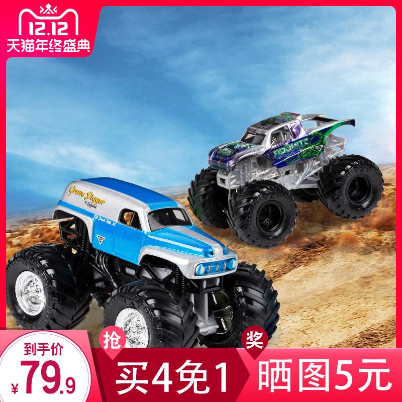 Monster Jam 疯狂大脚车儿童玩具赛车男孩合金汽车模型怪兽卡车