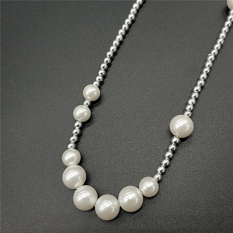 Wu Yifans same pearl necklace with copper plated silver splicing shell pearl pearl for men and womens clavicle hip hop Necklace