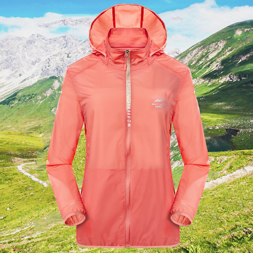 Zhanniu outdoor sports windbreaker couple skin clothes sunscreen clothes mens and womens summer anti ultraviolet Hooded Jacket