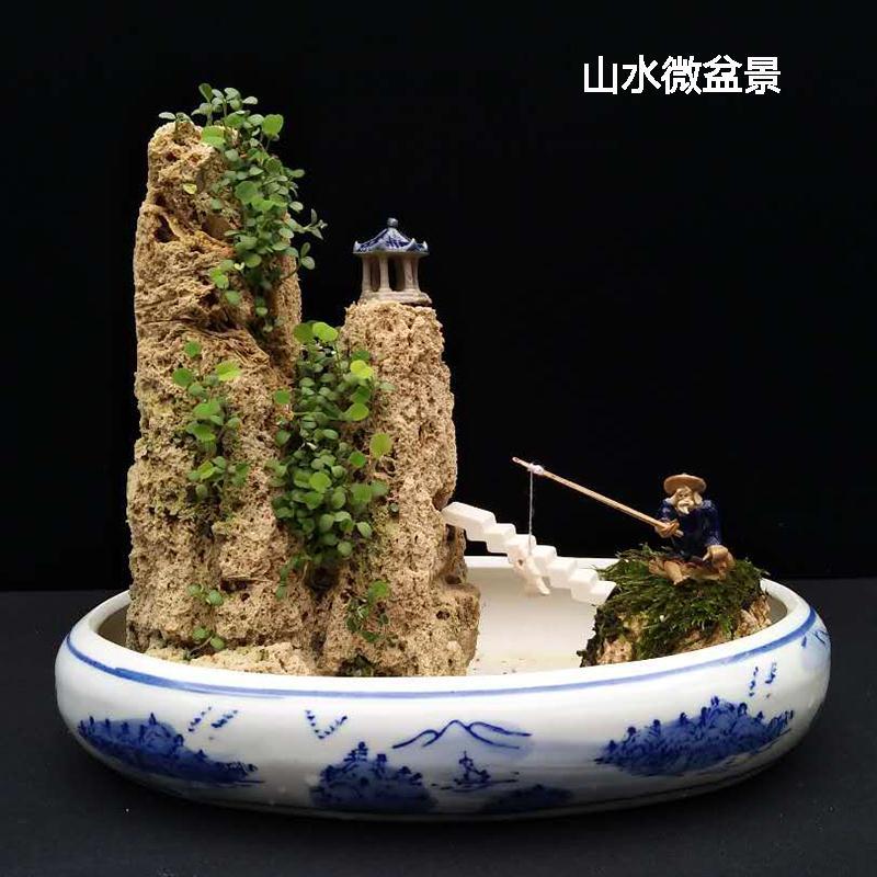 上水石原石吸水石天然山石盆景奇石假山石头水旱盆景创意礼品植物