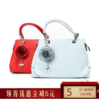 紅蜻蜓專柜新款雙手拎包簡約時尚單肩包氣質手提包正品982A113