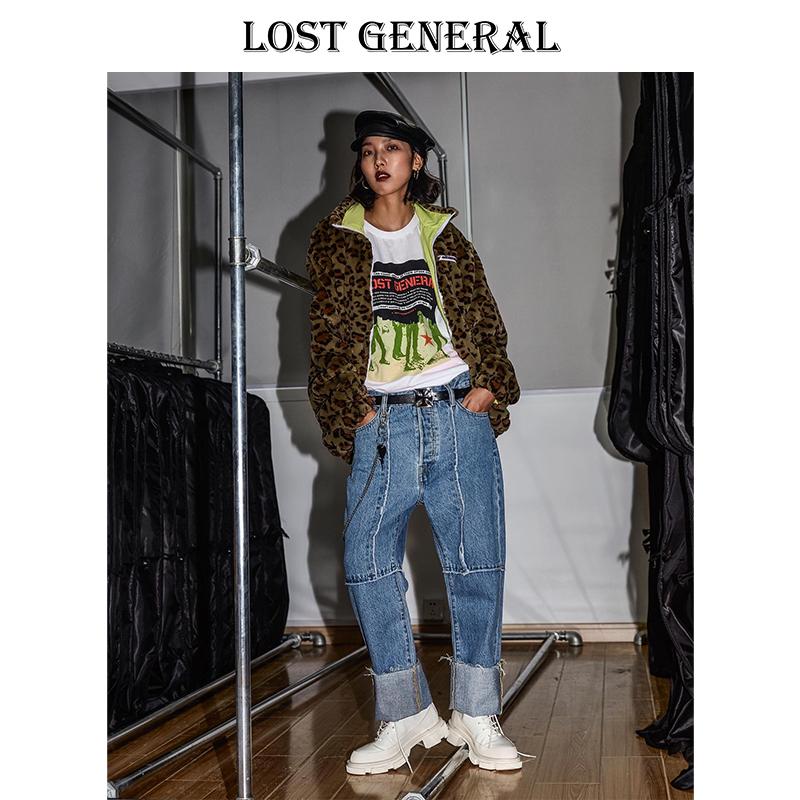 超级喜欢保暖和时尚两不误的多色豹纹皮草毛外套高领
