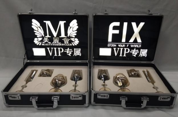 Private customized wine glass and wine set box VIP exclusive cup with VIP exclusive Cup logo for shareholders and directors