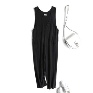 连体裤女2021年春夏新款高腰显瘦宽松时尚休闲气质棉麻阔腿连衣裤