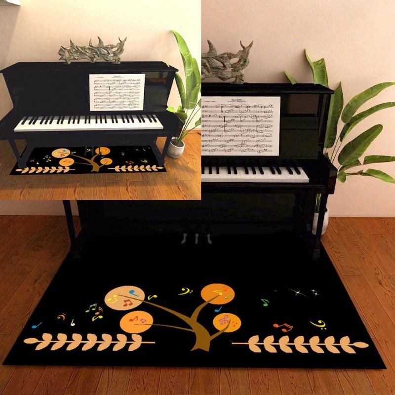 清洗吸音地毯北欧架子鼓特厚茶几不掉毛防滑圆型钢琴儿童防潮音乐