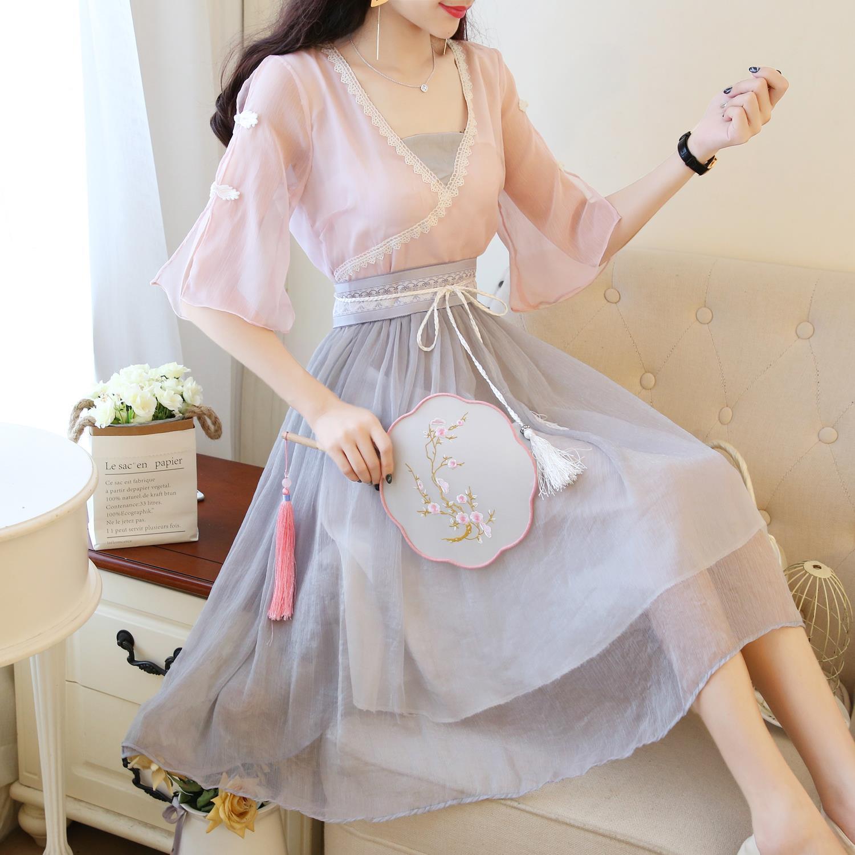150cm小个子xs码汉服改良女连衣裙(非品牌)