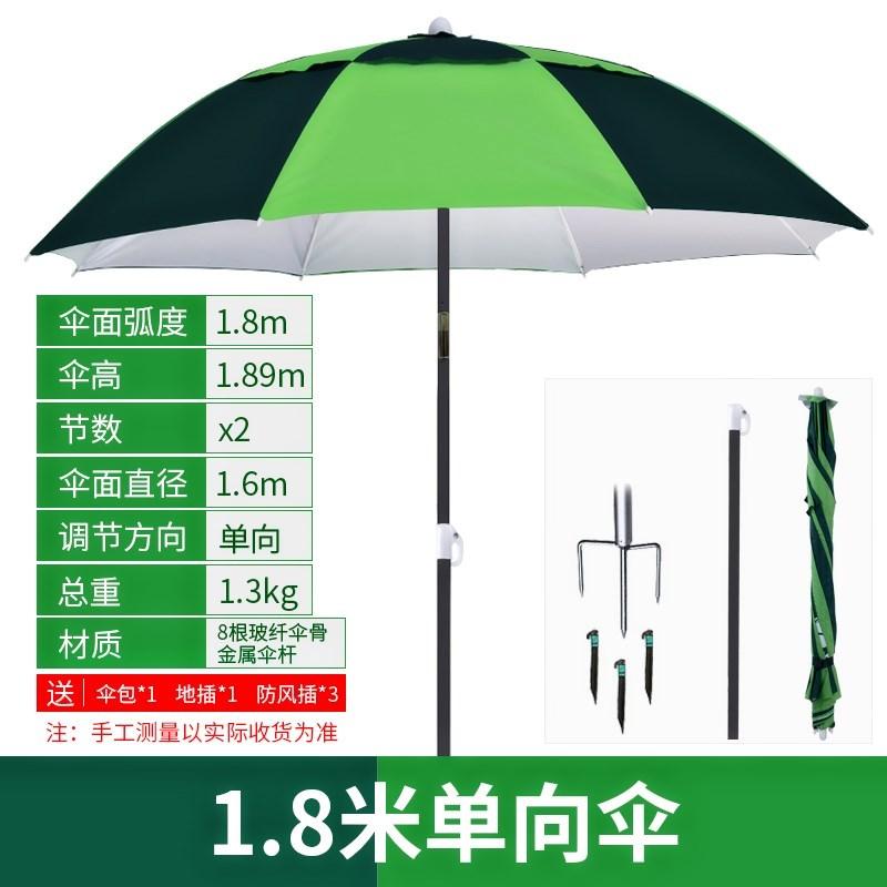 加厚钓鱼伞1.8新款鱼具2伞杆便携包邮收纳袋2.6大号雨伞钓凳子