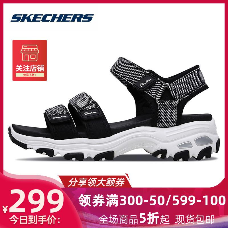 skechers斯凯奇凉鞋女鞋官方旗舰店夏季 透气厚底防滑沙滩鞋31657图片