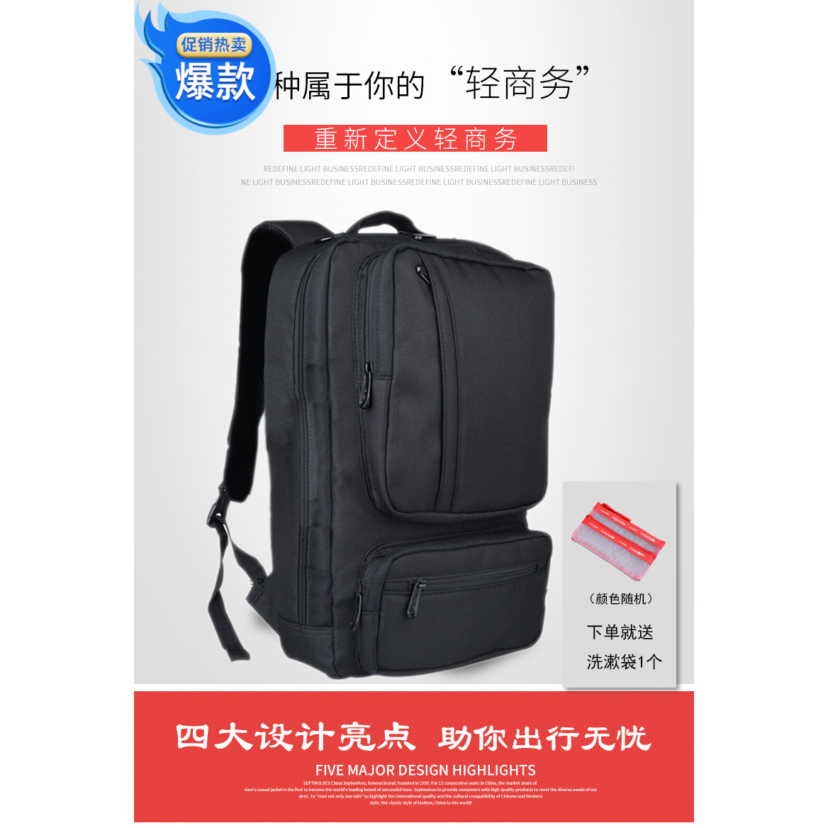 USB ready to charge mens and womens backpacks business leisure travel business multi purpose large capacity laptop bag