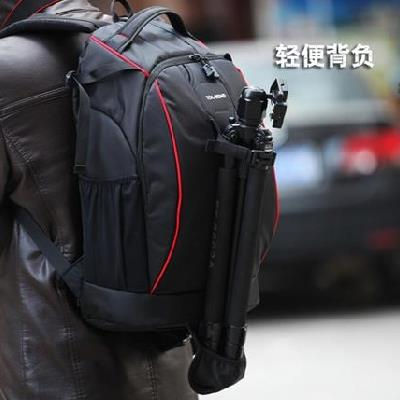 Fashion leisure camera bag double shoulder bag SLR professional micro single waterproof anti-theft photography backpack outdoor male and female students